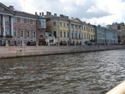 Fontanka river in Saint Petersburg