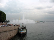 The Spit of Vasilyevsky island, fountain