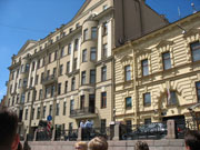 The building where Mikhail Boyarsky, a famous Soviet actor lives
