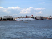 Neva river, the view from the Peter and Paul fortress on Vasilyevsky island
